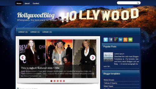 Template blogger Hollywood Blog
