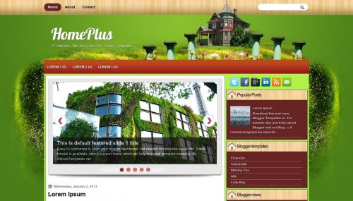 Template blogger Home Plus