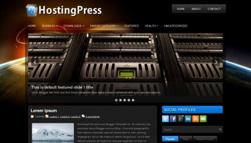 Template Blogger Hosting Press