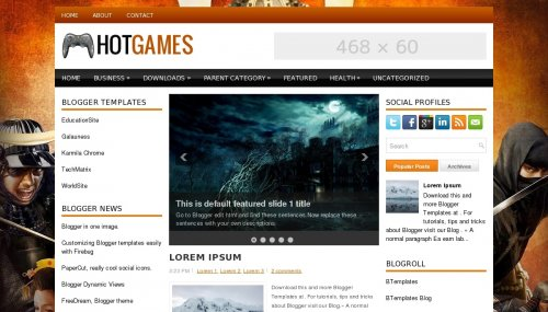 Template Blogger Hot Games