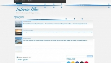 Intense Blue Blogger Template