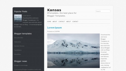 Template Blogger Kansas