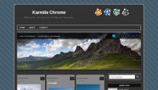 Karmila Chrome Blogger Template