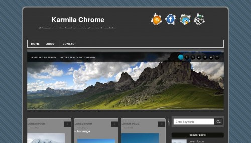 Template blogger Karmila Chrome