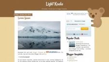 Light Koala Blogger Template