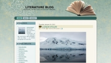 Literature Blog Blogger Template