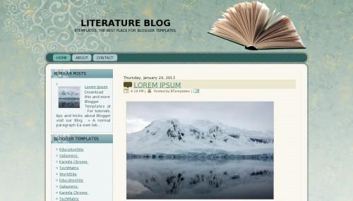 Template blogger Literature Blog