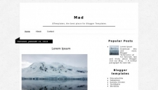 Mad Blogger Template