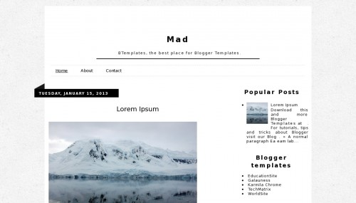 mad blogger template btemplates
