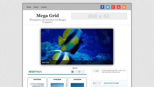 Template blogger Mega Grid