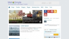 Metro Simple Blogger Template
