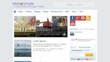 Metro Simple Blogger Template