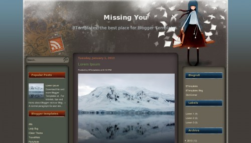 Template blogger Missing You