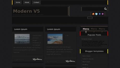 Template blogger Modern V5
