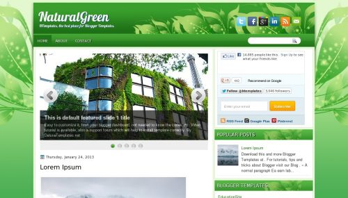 Template Natural Green