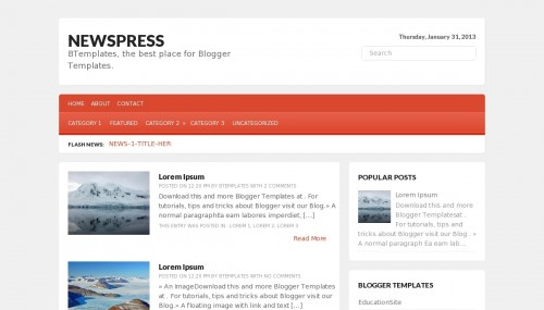 Template blogger News press