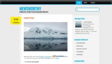 Newsworthy Blogger Template