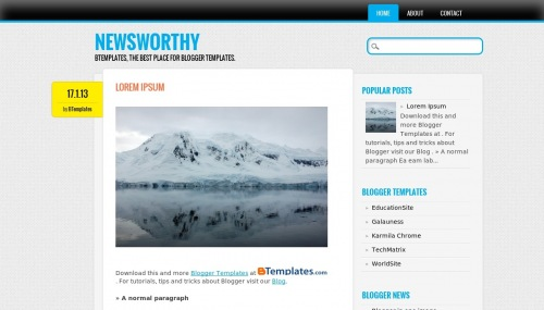 Template blogger News worthy