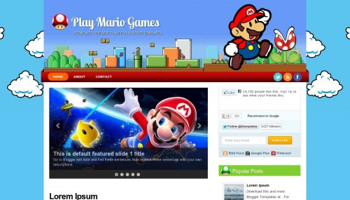 Template blogspot Play Mario Games