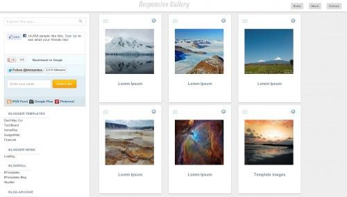 Template blogspot Responsive Gallery