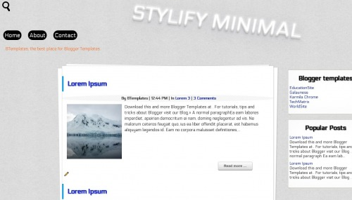 Template blogger Stylify Minimal
