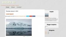 Stylify v2 Blogger Template