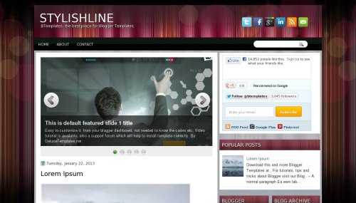 Template blogger StylishLine