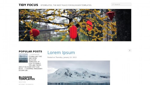 Template Blogger Tidy Focus