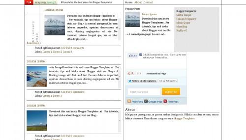 Template blogger Wayang Wong