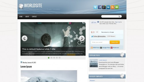 Template blogspot World Site