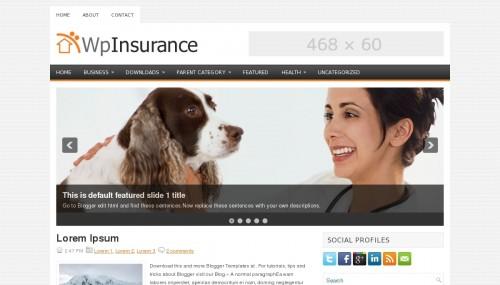 Template blogspot Wp Insurance