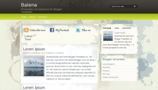 Balena Blogger Template