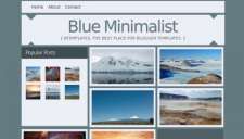 Blue Minimalist Blogger Template