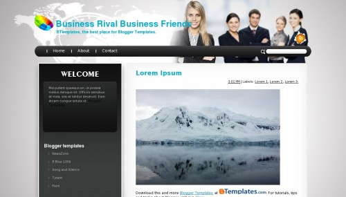 Business rival business friends blogger template btemplates live demo accmission