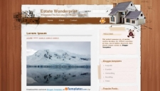 Estate Wonderprint Blogger Template