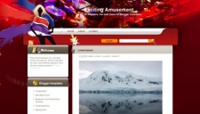 Exciting Amusement Blogger Template