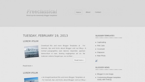 Template Blogger Freeclassical