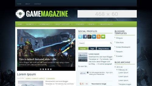 Template Game Magazine