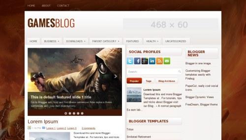 Template Blogger Games Blog