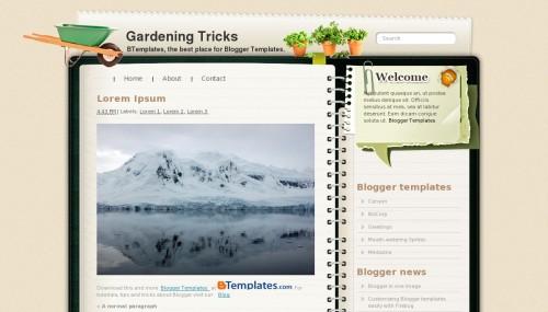 Template Blogger Gardening Trick