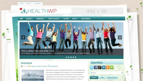 Template Blogger HealthWp