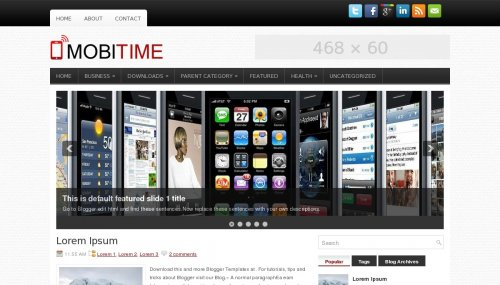 Template blogger MobiTime