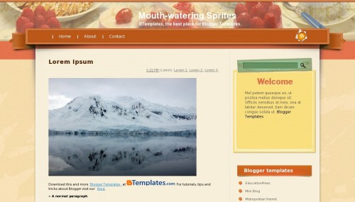 Template blogger Mouth-watering Sprites