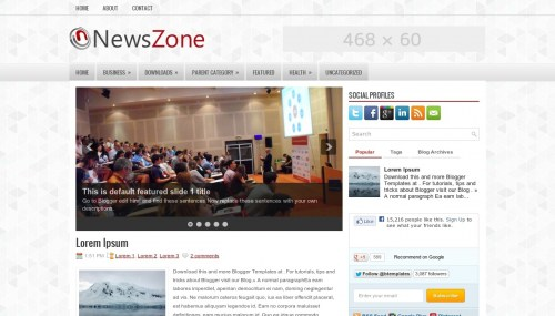 Template blogger News Zone