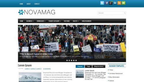 Template blogger Nova Mag
