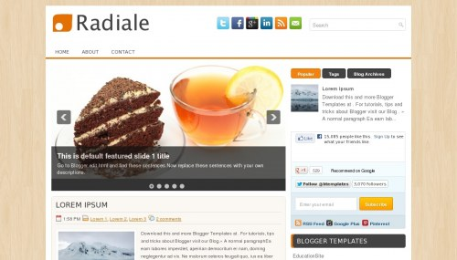 Template blogger Radiale