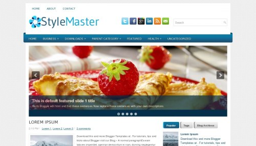 Template blogger Style Master