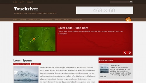 Template blogger Touch river