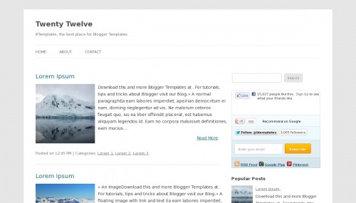 template blogger Twenty Twelve