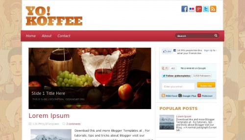 Template blogspot Yo Koffee